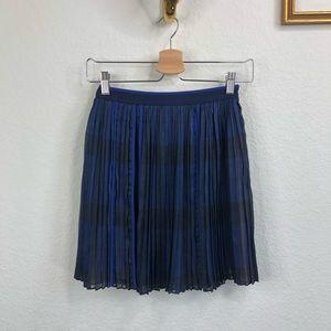 O'2nd Watercolor Accordion Pleat Mini Skirt A Line
